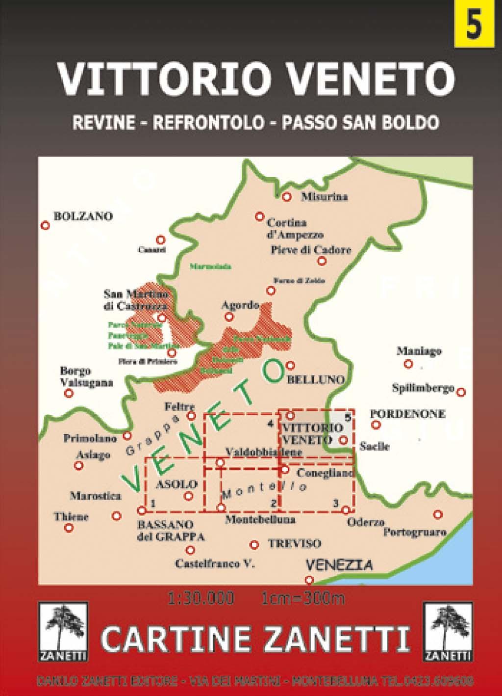 Cartina Dell Italia Veneto.Vittorio Veneto Revine Refrontolo Passo San Boldo Mappa Cartina