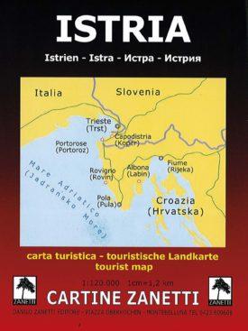 Istria - Istrien Carta turistica - touristische Landkarte - tourist map Mappa scala 1:120.000