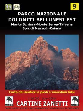 Parco Nazionale Dolomiti Bellunesi, Monte Schiara, Monte Serva, Talvena, Spiz di Mezzodì, Caiada