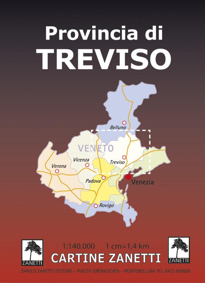 Provincia di Treviso. Mappa scala 1:140.000
