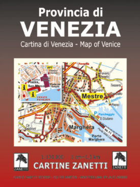 Provincia di Venezia. Cartina di Venezia. Map of Venice Mappa scala 1:130.000