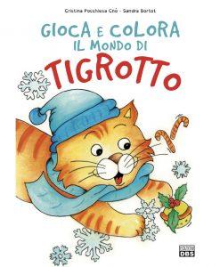 Tigrotto albo da colorare sui gatti. Albo da disegnare per bambini.